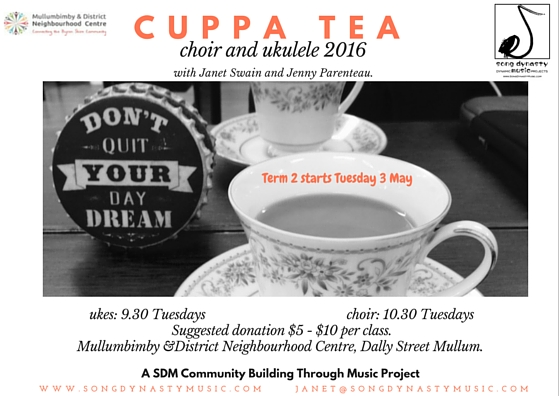 Cuppa Tea term 2 2016